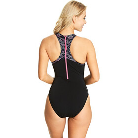 Zoggs Electric Traje de Baño Cremallera Espalda Mujer, black/multi
